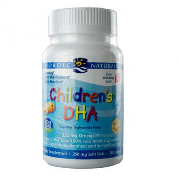 儿童鱼肝油180粒 挪威 Nordic Children's DHA 180...