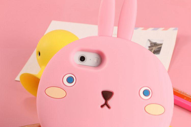 iphone6手机壳 苹果立体保护套 软胶外壳 卡通可爱呆萌兔子 4.7寸